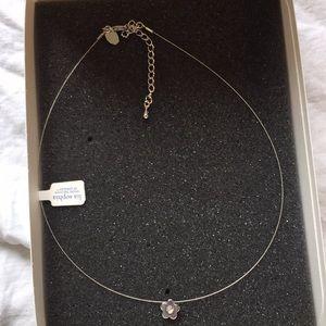 Lia Sophia Dainty Silver Flower Necklace NWT